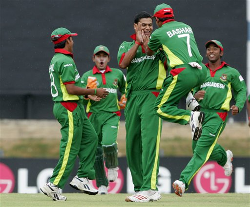 Tigers celebrates the wicket of Stephen Outerbridge against Bermuda. &#0169 AP Photo