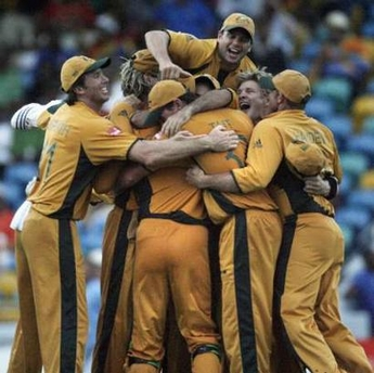 Australia wins World Cup 2007 defeating Sri Lanka by 53 runs