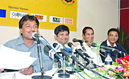 Chief Selector Faruque Ahmed announces the Bangladesh team for the three-match ODI series against India