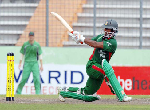 Aftab Ahmed top-scored with 61 for the Tigers, Ireland vs Bangladesh, ODI 2