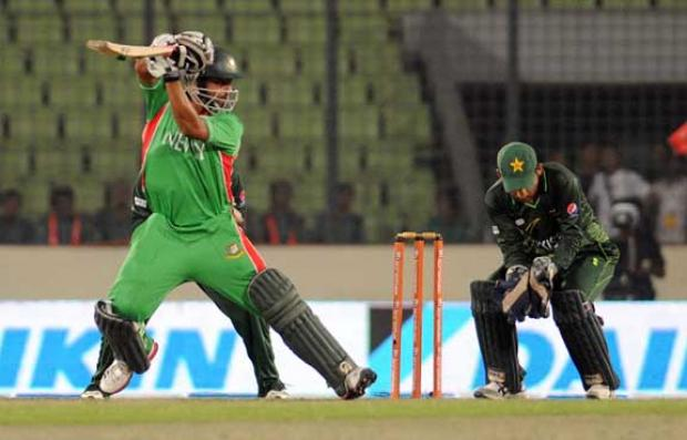 Tamim Iqbal batting in the Asia Cup opener vs Pakistan